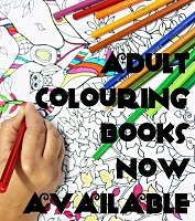 Adult Colouring Books Now Available!